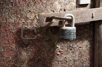 Old door and lock
