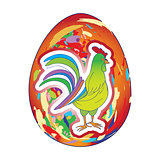 rooster over egg