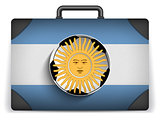 Argentina Travel Luggage with Flag for Vacation