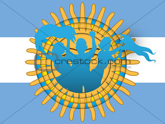 Argentina Soccer Fan Flag Cartoon