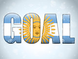 Argentina Goal Soccer 2014 Letters with Argentinian Flag