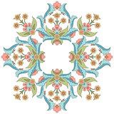 Ottoman art flowers fifteen