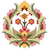 Ottoman art flowers fourteen