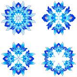 Ottoman art flowers six