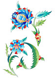 Ottoman art flowers ten