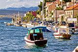 Novigrad dalmatinski waterfront summer view