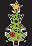 Stylized Christmas tree