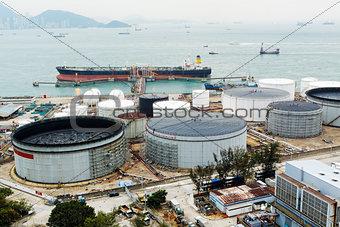 Oil Tank at day