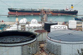 Oil Tank at day