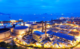 Glow light of petrochemical industry