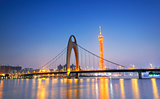 guangzhou in the sunset moment