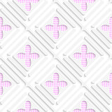 Diagonal checked flowers and frames pattern