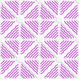 Diagonal magenta wavy lines pattern