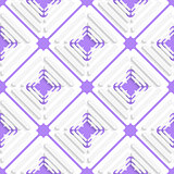 Diagonal offset squares and purple net pattern