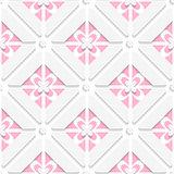 Diagonal pink floristic pattern