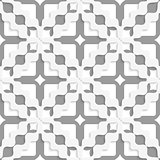Diagonal white and gray wavy squares
