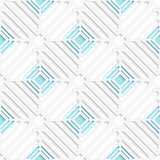 Diagonal white square net and blue pattern
