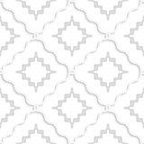 Diagonal white wavy squares pattern