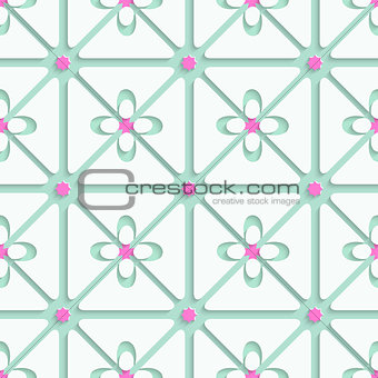 Green and pink flourish simple pattern