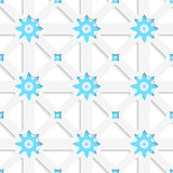 White net and snowflakes with shadow tile ornament
