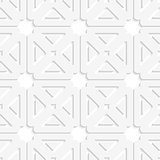 White squares and triangles tile ornament