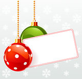Blank  label with Christmas decoration