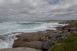 Ocean shore at storm