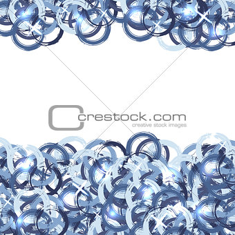Abstract background with grunge blue circles