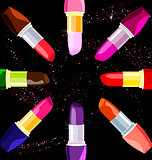 abstract  lipsticks