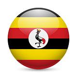 Round glossy icon of Uganda