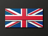 Modern style Great Britain flag