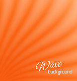 Orange abstract smooth light lines background
