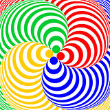 Design colorful swirl circular illusion background