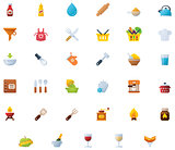 Cooking icon set