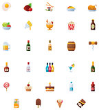 Food and drinks icon set