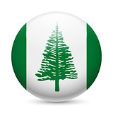Round glossy icon of Norfolk Island