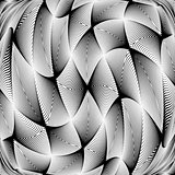 Design monochrome warped grid decorative pattern