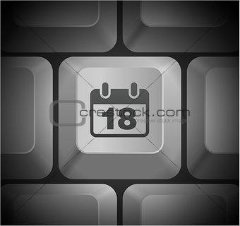 Calendar Icon on Computer Keyboard