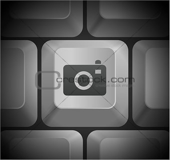 Camera Icon on Computer Keyboard