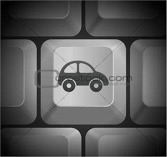 Car Icon on Computer Keyboard