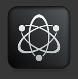 Atom Icon on Square Black Internet Button