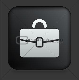 Briefcase Icon on Square Black Internet Button