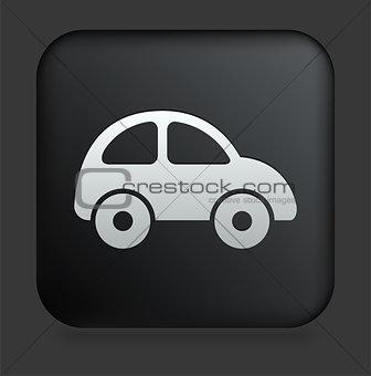 Car Icon on Square Black Internet Button
