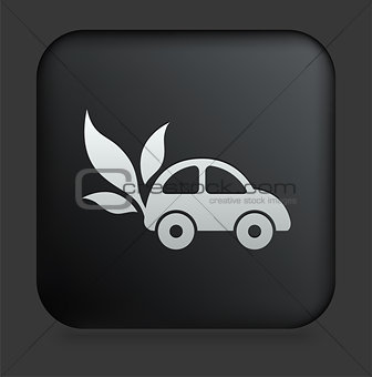 Car Icon on Square Black Internet Button