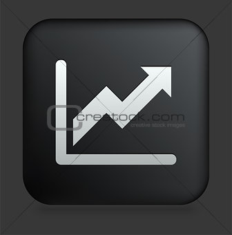 Chart Icon on Square Black Internet Button
