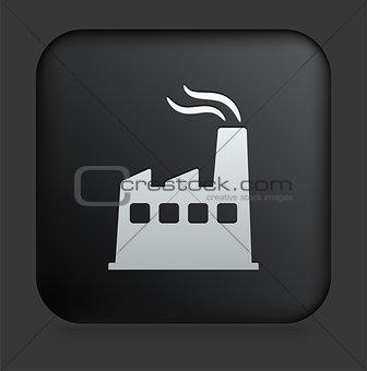 Factory Icon on Square Black Internet Button