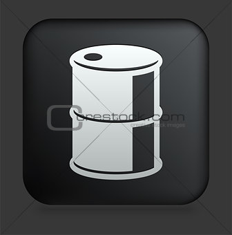 Oil Can Icon on Square Black Internet Button