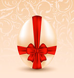 Easter celebration background with traditional egg