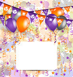 Halloween decoration with greeting card