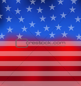 Abstract American Flag for 4th of July